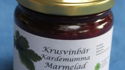 Krusvinbärsmarmelad med kardemumma