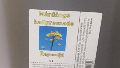 Kallpressad Rapsolja 5L