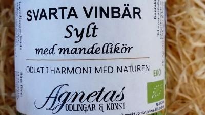 Svarta vinbärssylt med mandellikör 150 gr